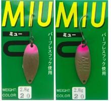 Блесна колеблющаяся Forest Miu 2,8 гр цвет 20